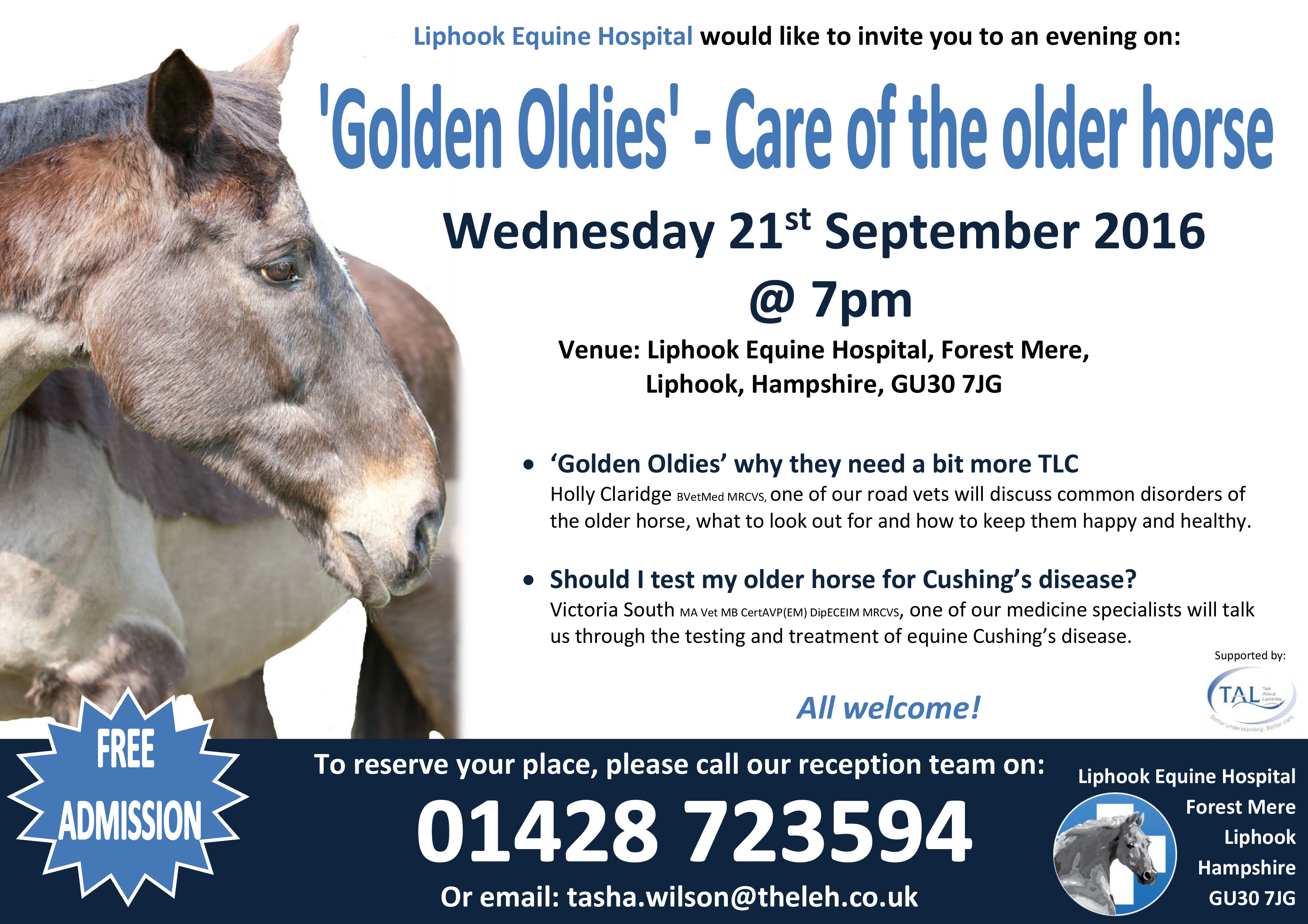By Popular Demand Another Free Talk At >> Due To Popular Demand We Are Holding Another Golden Oldies Talk